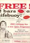 Click here to enlarge image and see more about item MH6496: Lifebuoy soap ad 1958