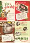Proctor appliances ad 1947