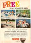 Evinrude power boats - engines  ad 1962