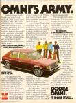Click here to enlarge image and see more about item MH6742: Dodge Omni auto ad 1978