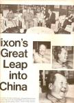 1972 PRESIDENT NIXONs GREAT LEAP into China ARTICLE 9p