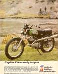 Click here to enlarge image and see more about item MH6771: Harley Davidson RAPIDO  ad 1971