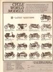 Click here to enlarge image and see more about item MH6780: Cycle world models ad 1971