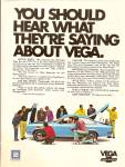 Click here to enlarge image and see more about item MH6855: Chevrolet Vega auto ad 1971
