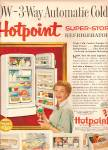 Click here to enlarge image and see more about item MH6909: Hotpoint refridgerator  ad - HARRIET NELSON 1955