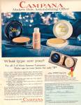 Campana make up items ad 1959