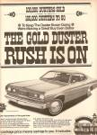 Click here to enlarge image and see more about item MH6934: Plymouth Gold Duster auto ad 1970