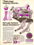 Click here to enlarge image and see more about item MH6940: Cyclone automotive products ad 1973