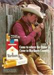 Click here to enlarge image and see more about item MH6943: Marlboro cigarettes ad 1972 THE MARLBORO MAN