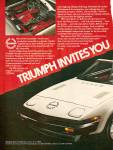 Click here to enlarge image and see more about item MH6984: Triumph TR7 auto ad 1979