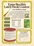 Click here to enlarge image and see more about item MH6993:  Bucilla Latch Hook contest ad 1977