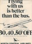 North Central Airlines ad 1978