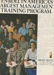 ARMY ROTC  ad - 1978