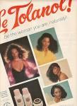Le Tolanol shampoo and rinse ad 1978
