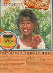 Click here to enlarge image and see more about item MH859: Ultra sheen hair food ad 1978