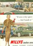WILLYS  automobile ad 1951