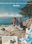 Click here to enlarge image and see more about item MH3948: Belair cigarettes ad 1972