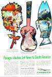 Click here to enlarge image and see more about item PJ176: Panagra airlines ad 1961