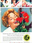 Click here to enlarge image and see more about item PJ192: Florists telegraph delivery ad - 1959