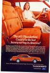 Click here to enlarge image and see more about item PJ208: Ford Thunderbird auto ad 1974