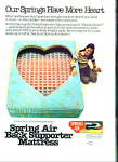 Spring Air Mattress ad 1981