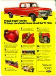 Click to view larger image of 1974 Ford Truck Ad = COOL RED Pick Up (Image3)