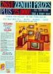 Click here to enlarge image and see more about item R1141: 1961 Zenith Television - Radio Values Contest
