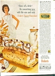 Click here to enlarge image and see more about item R1157: 1961 Baker's CHOCOLATE AD