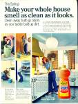 Click here to enlarge image and see more about item R1213: Lysol Deodorizing cleaner ad -  April 1973