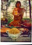 Click here to enlarge image and see more about item R1226: 1969 Village Inn Wild Rice Ad INDIAN CHIEF