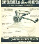 The Enterprise Mfg Co. of Pa. ad
