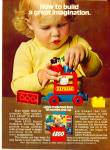 Click here to enlarge image and see more about item R1306: 1977 LEGO Pre School Building Blocks AD
