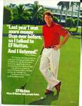 Click here to enlarge image and see more about item R1355: 1980 GOLFER TOMMY WATSON EF HUTTON AD