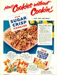 Click here to enlarge image and see more about item R1369: 1954 POST Sugar Crisp Cereal AD Cookie Recip