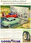 Click here to enlarge image and see more about item R1387: 1940's Goodyear Tire AD - FOUR ROSES Cooling