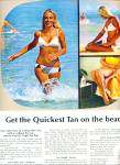 Click here to enlarge image and see more about item R1406: 1970 Coppertone Tanning Lotion AD BLONDE MODEL