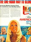 Click here to enlarge image and see more about item R1423: 1970 BLONDES American Style HAIR AD Models