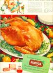 Click here to enlarge image and see more about item R1484: 1950's Armour Star Farm Fresh Turkey AD