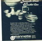 OLD JEANNETTE GLASS AD Glasbake Punchbowl Mug