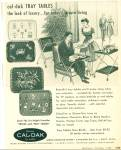 1956 CAL-DAK AD TOLE - Vintage TRAY TABLE AD