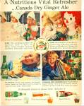 Click here to enlarge image and see more about item R1562: 1959 CANADA DRY Ginger Ale AD Girl - Raggedy