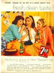 1959 7UP Seven UP GIRL'S ON PHONE Soda AD