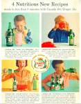 1959 CANADA DRY AD 4 RECIPES Galaxy Punch