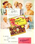 1959 WHITMAN'S MOTHER Mother's DAY CANDY AD