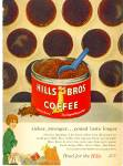 1959 HILLS Bros COFFEE AD Tin Metal