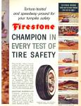 Click here to enlarge image and see more about item R1597: Firestone tire ad - April 1960