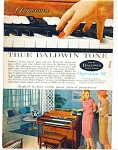Click here to enlarge image and see more about item R1598: True Baldwin piano tone ad - April 1960