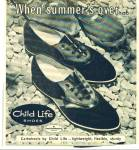Click here to enlarge image and see more about item R1608: 1964 Child-Life shoes AD Cartwheels Design