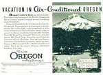 Click here to enlarge image and see more about item R1671: 1938 OREGON Travel Vacation AD Drive Mt. Hood