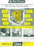 1947 Coleman Gas - Oil FURNACE AD Cute pics